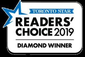 Toronto Star Readers Choice 2019 Diamond Winner