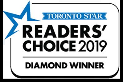 Toronto Star Readers' Choice 2019 Diamond Winner